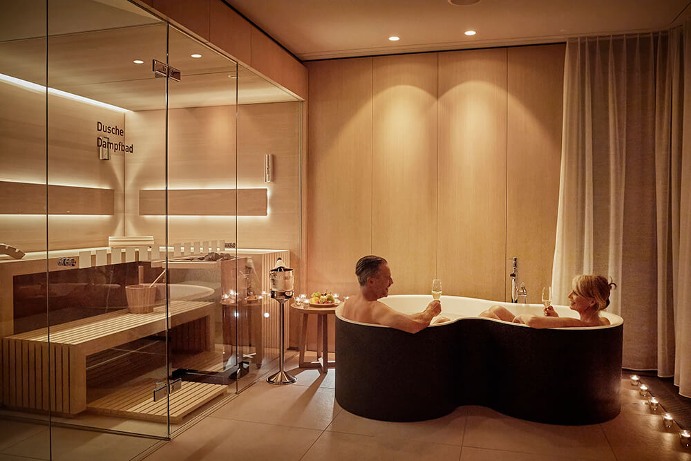 Private Spa Suite im Day Spa Bereich des Hotels Eden in Spiez am Thunersee