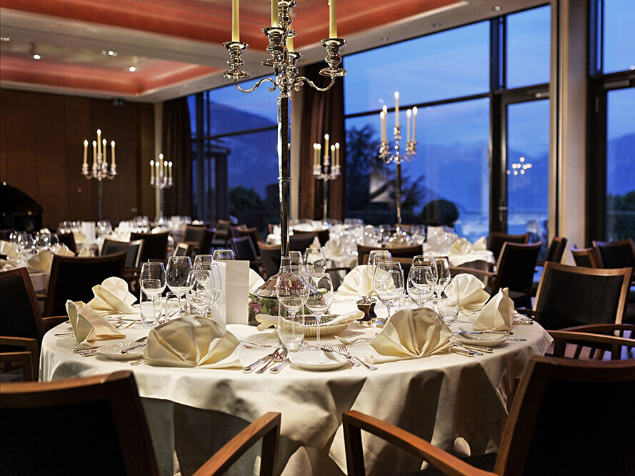 Festliche Events in den Restaurants im Eden Spiez